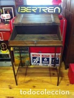 Antigüedades: Mueble auxiliar de roble con cerradura y llave. Antiguo comercio. - Foto 4 - 113390319