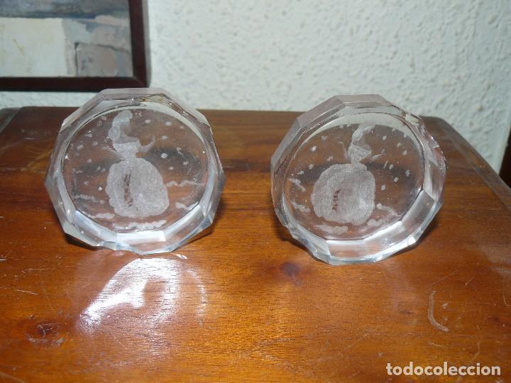 Antigüedades: DOS CENICEROS DE CRISTAL TALLADO DE BOHEMIA. - Foto 2 - 115608259