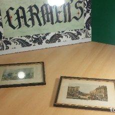 Antigüedades: PAREJA DE CUADROS CON MARCOS MUY BOTITOS Y ANTIGUOS. Lote 115608519