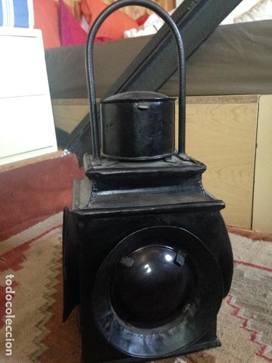 FAROL FERROVIARIO RENFE (Antigüedades - Iluminación - Faroles Antiguos)