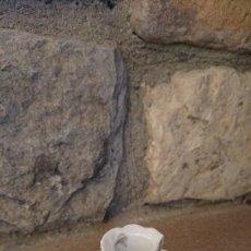 Antigüedades: PORTAVELAS CERAMICA BLANCA.. Lote 115616427