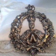 Antigüedades: ANTIGUA Y GRAN MEDALLA EN PLATA, PUNZONADA.. Lote 47132574