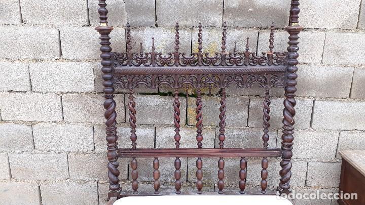 Antigüedades: Cama antigua portuguesa estilo Luis XIII barroco gótico o renacimiento rústico cabecero antiguo - Foto 11 - 115626223
