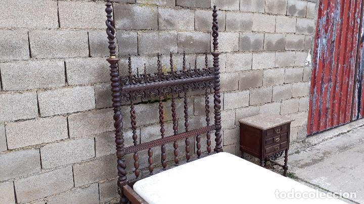 Antigüedades: Cama antigua portuguesa estilo Luis XIII barroco gótico o renacimiento rústico cabecero antiguo - Foto 13 - 115626223