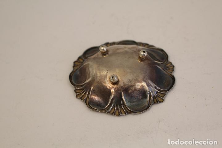 Antigüedades: bandeja en plata maciza de ley 925milesimas - Foto 2 - 125988498