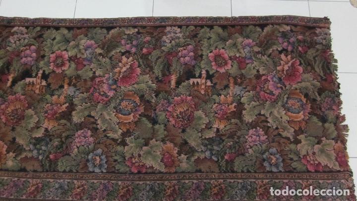 Antigüedades: Antiguo tapíz textura aterciopelada 167 x 74 - Foto 2 - 115657587