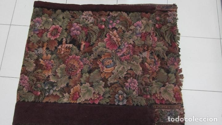 Antigüedades: Antiguo tapíz textura aterciopelada 167 x 74 - Foto 3 - 115657587