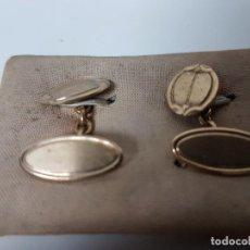 Oggetti Antichi: GEMELOS CHAPADO EN ORO ( VINTAGE ). Lote 115689723