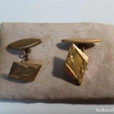 Antigüedades: GEMELOS CHAPADO EN ORO ( VINTAGE ). Lote 115690847