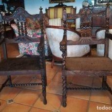 Antigüedades: PAREJA DE GRANDES SILLAS. Lote 105217231