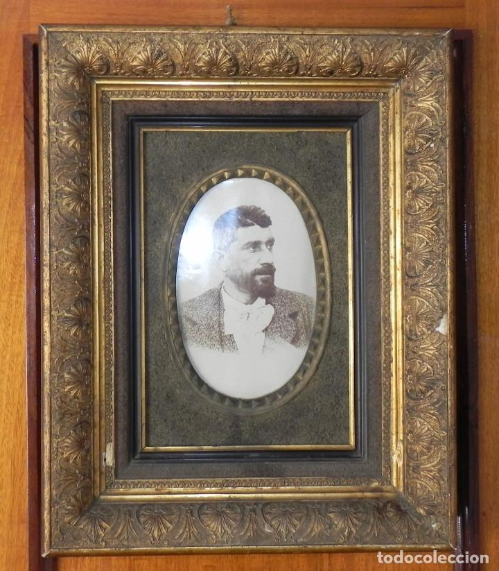 antiguo marco de madera con fotografia siglo - Comprar Marcos ...
