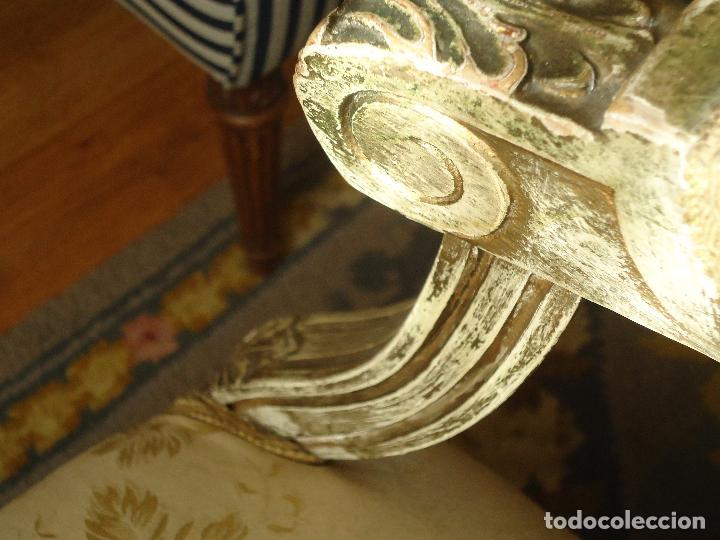 Antigüedades: Sillón francés estilo luis XVI, decapé envejecido. - Foto 3 - 115708571