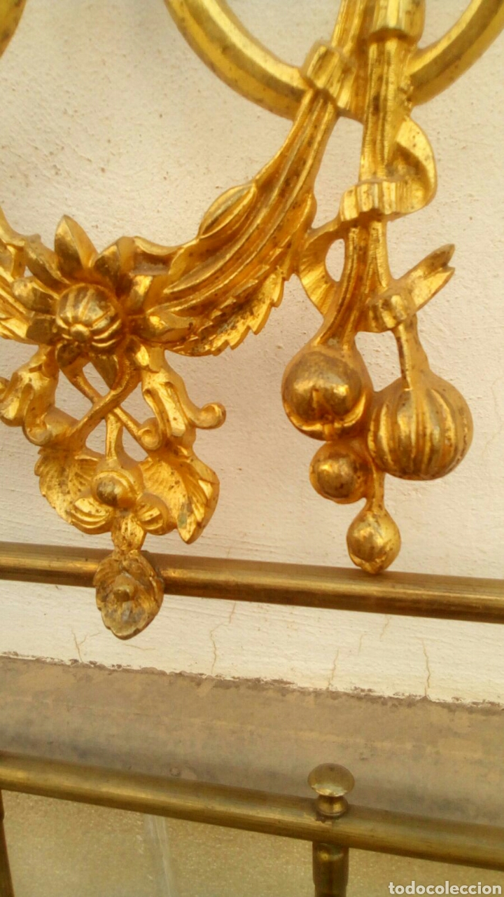 Antigüedades: Cabecero dorado isabelino de 150 - Foto 8 - 112091752