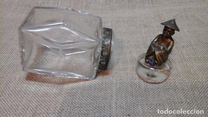 Antigüedades: Bote en cristal de roca . Mandarín de bronce . Años 30 - Foto 2 - 115749783