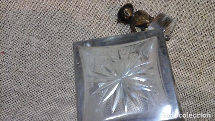 Antigüedades: Bote en cristal de roca . Mandarín de bronce . Años 30 - Foto 3 - 115749783