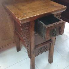 Antigüedades: ANTIGUA MESILLA DE NOGAL CHINA DEL SIGLO XIX. Lote 115749955