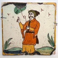Antigüedades: AZULEJO CATALAN DE ARTS I OFICIS. SIGLO XVII. Lote 115815547