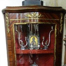 Antigüedades: VITRINA DE MADERA ESTILO LUIS XV. . Lote 115905027