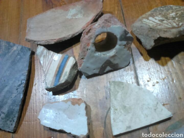 Antigüedades: Antiguos trozos,de cerámica, siglo XVII-XVIII,ideal coleccionistas - Foto 5 - 115934500