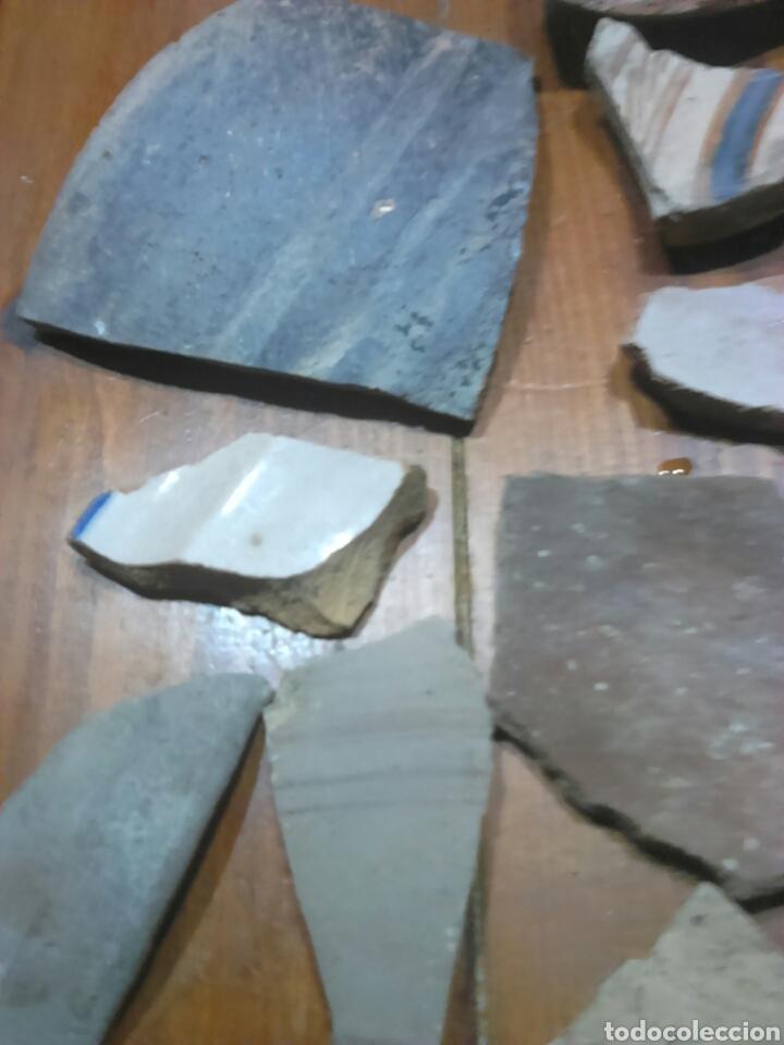 Antigüedades: Antiguos trozos,de cerámica, siglo XVII-XVIII,ideal coleccionistas - Foto 6 - 115934500
