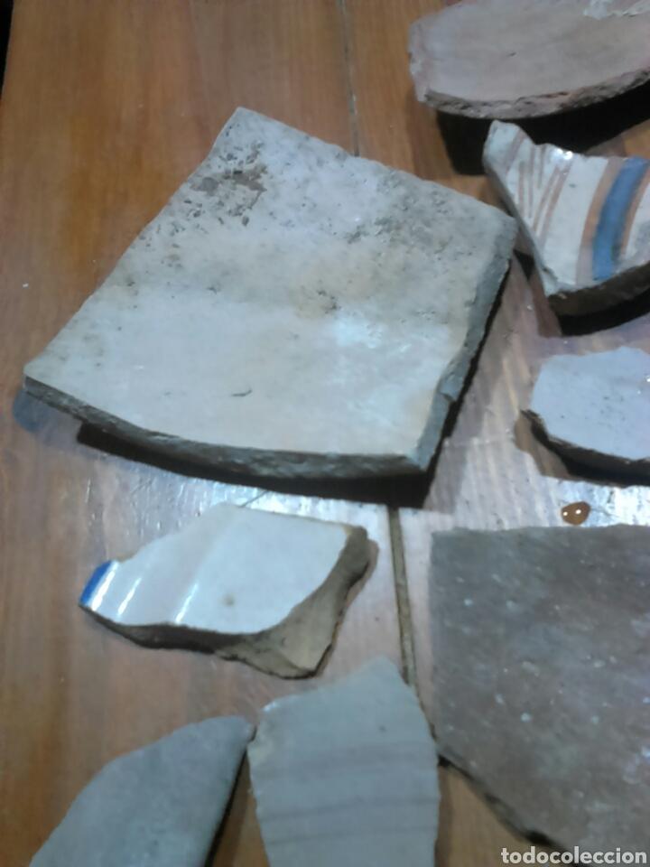 Antigüedades: Antiguos trozos,de cerámica, siglo XVII-XVIII,ideal coleccionistas - Foto 7 - 115934500