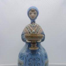 Antigüedades: FIGURA VINTAGE DE PORCELANA LLADRÓ - ALDEANA - ESCULTOR JULIO FERNANDEZ - AÑOS 70, DESCATALOGADA .. Lote 115956531