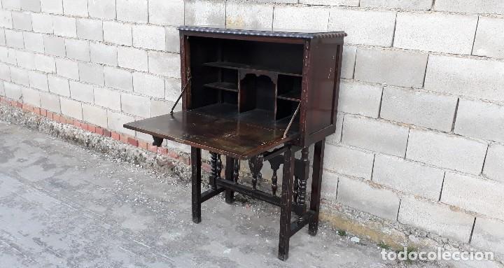 Antigüedades: Bargueño antiguo estilo renacimiento o renacentista, papelera o arquimesa antigua, mueble auxiliar - Foto 8 - 115956931