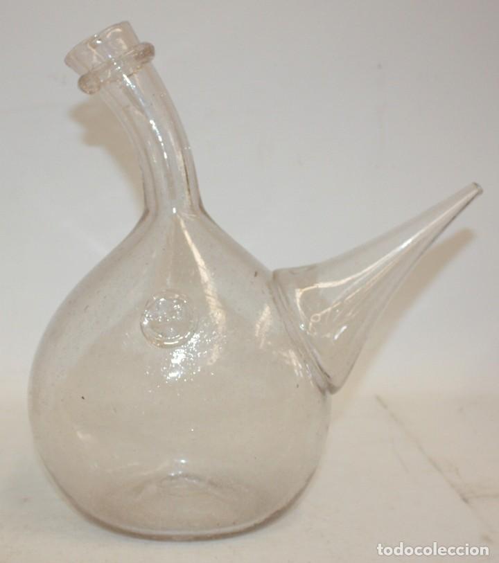 ANTIGUO PORRON EN CRISTAL SOPLADO CATALAN. CIRCA 1850 (Antigüedades - Cristal y Vidrio - Catalán)