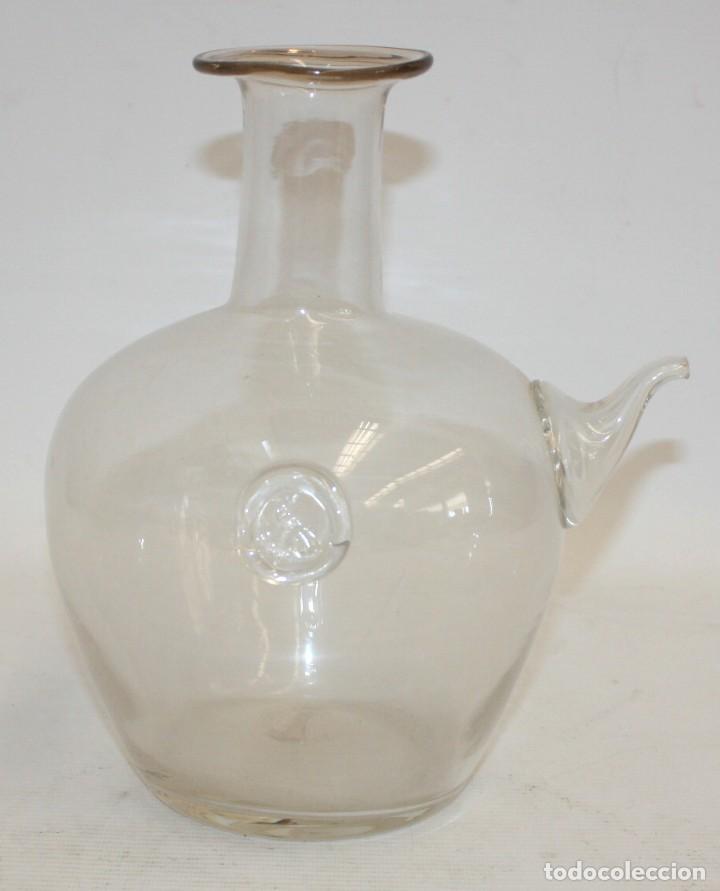 ANTIGUA ACEITERA CATALANA EN CRISTAL SOPLADO. CIRCA 1890 (Antigüedades - Cristal y Vidrio - Catalán)