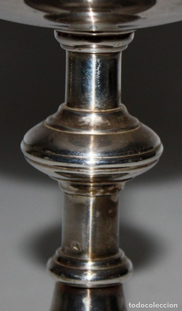 Antigüedades: CALIZ EN METAL PLATEADO DE PRINCIPIOS DEL SIGLO XX - Foto 3 - 116572006