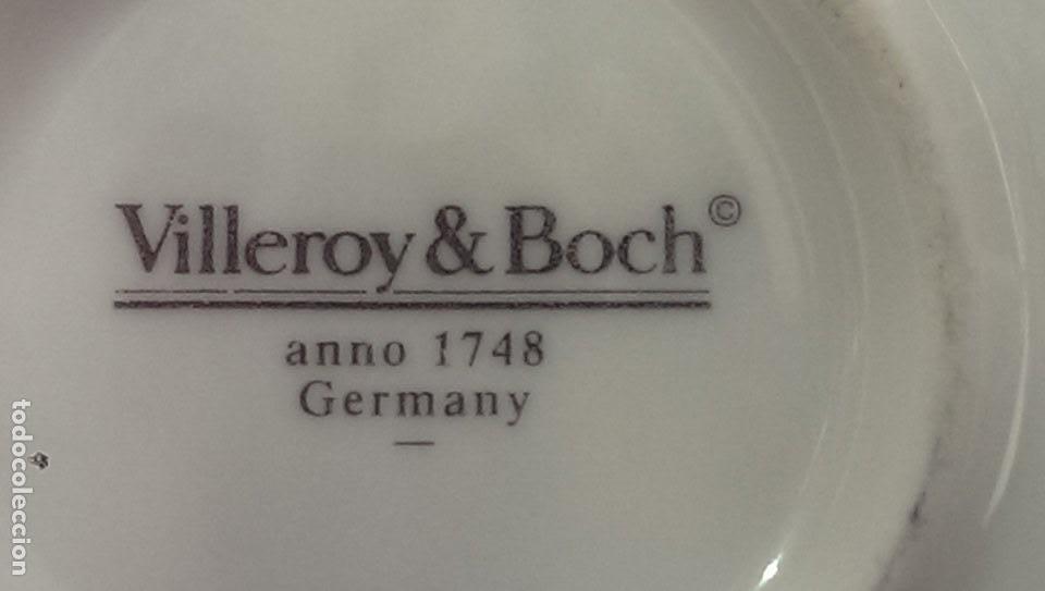 Antigüedades: plato platito conmemorativo 250 aniversario Villeroy & Boch aleman serie limtada exclusivo - Foto 2 - 116093479