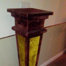 Antigüedades: PAREJA DE PEANAS - PEDESTALES - COLUMNAS EN TERCIOPEO. Lote 116111363