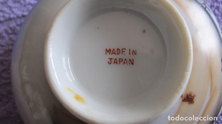 Antigüedades: ANTIGUA SALSERA JAPONESA . JAPON. PORCELANA BLANCA ESMALTADA. DIAMETRO 12 CMS - Foto 5 - 116113667