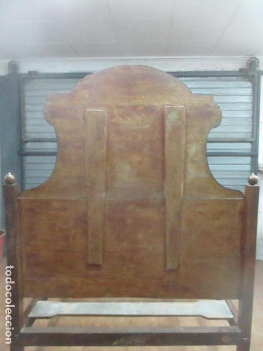 Antigüedades: Curiosa Cama - Estilo IV - Madera Nogal - Bastidor Original - Finales S. XVIII - Foto 12 - 116115447