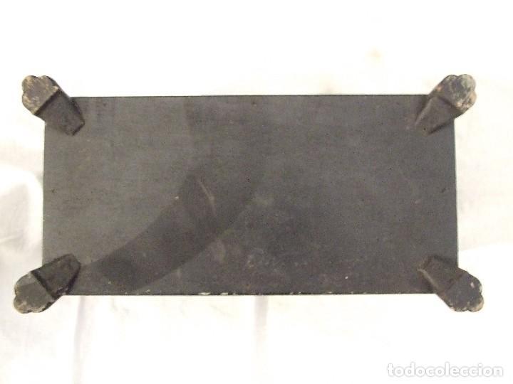 Antigüedades: ANTIGUA CAJA PEQUEÑA ISABELINA TIPO ARCON - LACADA EN NEGRO - CAJA MALLORQUINA SIGLO XIX - Foto 8 - 116117011