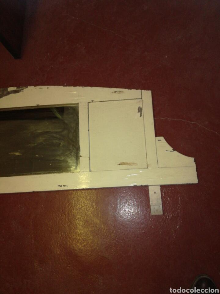 Antigüedades: Antiguo espejo de aparador Shabby chic - Foto 4 - 116120216