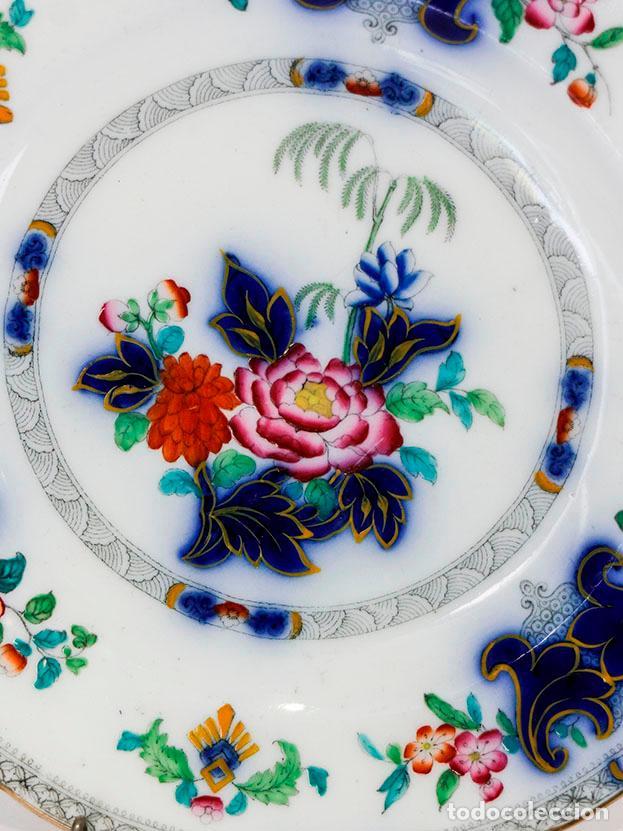 ANTIGUO PLATO DE MAGNÍFICA PORCELANA BELGA. 1800S APROX (Antigüedades - Porcelanas y Cerámicas - Otras)