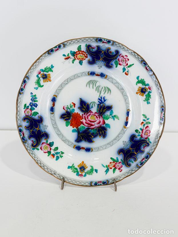 Antigüedades: Antiguo plato de magnífica porcelana belga. 1800s aprox - Foto 2 - 116121327
