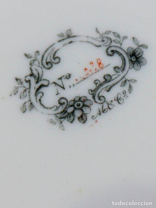 Antigüedades: Antiguo plato de magnífica porcelana belga. 1800s aprox - Foto 3 - 116121327