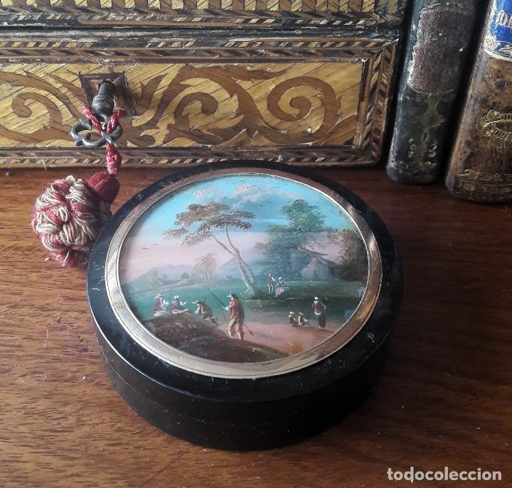 CAJA DE RAPÉ DEL SIGLO XIX (Antigüedades - Hogar y Decoración - Cajas Antiguas)