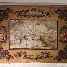 Antigüedades: PRECIOSO CUADRO ANTÍGUO BORDADO. S XVIII-XIX. Lote 116148683