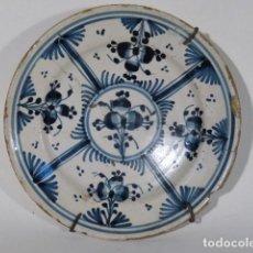 Antigüedades: PLATO DE CERÁMICA CATALANA S.XVIII. LAÑADO.. Lote 116162699