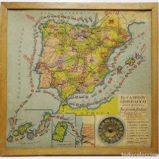 Antigüedades - Antiguo juego El Campeón Geografico - Años 20 - Con ruleta - 116162751