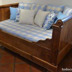 Antigüedades - CAMA FRANCESA DE NOGAL SIGLO XIX-PROVENZA- - 116163879