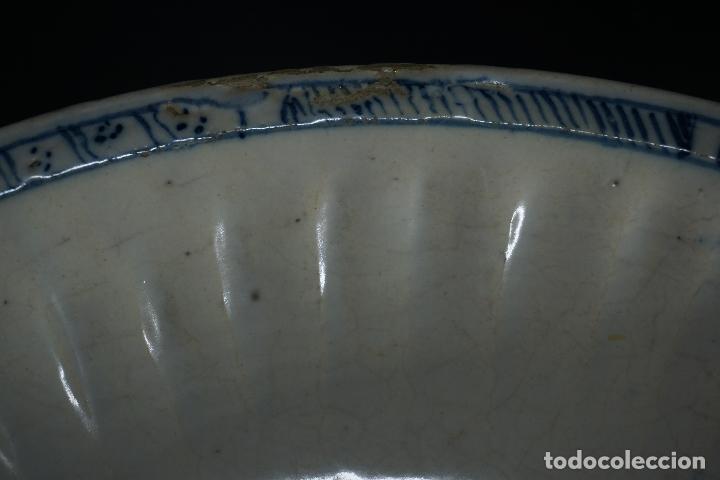 Antigüedades: GRAN FUENTE, PLATO. CERÁMICA TRIANA. SIGLO XVIII. - Foto 19 - 116161679