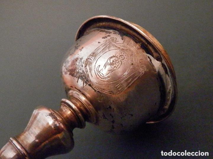 Antigüedades: IMPORTANTE COPÓN BARROCO DEL SIGLO XVIII CON INSCRIPCIONES Y ESCUDO ¡Ver fotos! - Foto 6 - 116166743