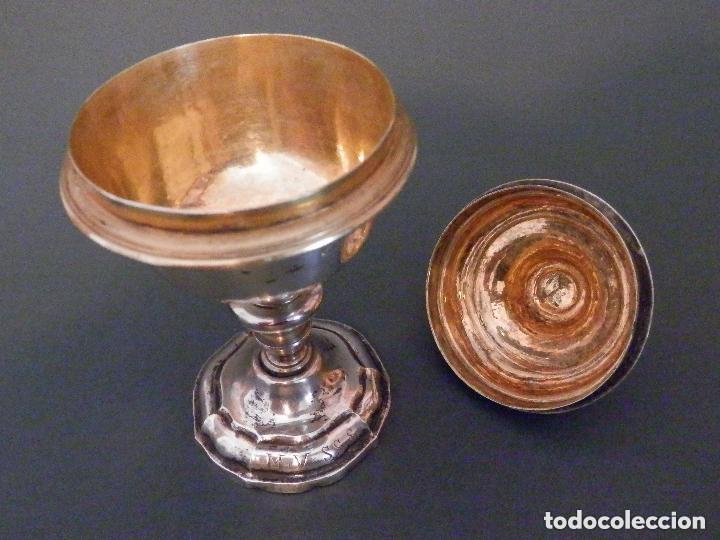 Antigüedades: IMPORTANTE COPÓN BARROCO DEL SIGLO XVIII CON INSCRIPCIONES Y ESCUDO ¡Ver fotos! - Foto 7 - 116166743