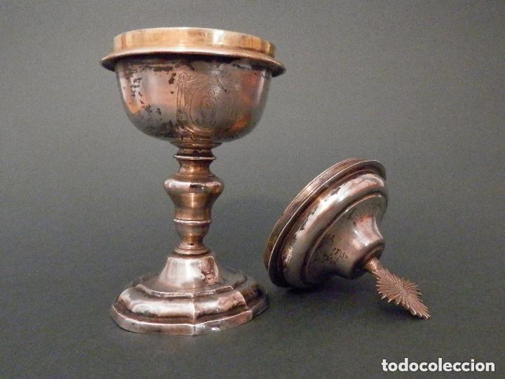 Antigüedades: IMPORTANTE COPÓN BARROCO DEL SIGLO XVIII CON INSCRIPCIONES Y ESCUDO ¡Ver fotos! - Foto 8 - 116166743