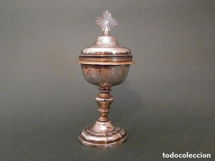Antigüedades: IMPORTANTE COPÓN BARROCO DEL SIGLO XVIII CON INSCRIPCIONES Y ESCUDO ¡Ver fotos! - Foto 9 - 116166743