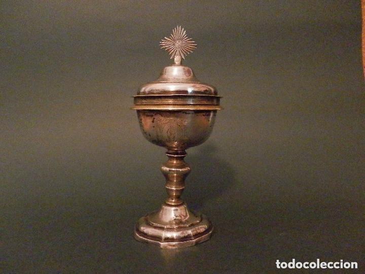Antigüedades: IMPORTANTE COPÓN BARROCO DEL SIGLO XVIII CON INSCRIPCIONES Y ESCUDO ¡Ver fotos! - Foto 13 - 116166743
